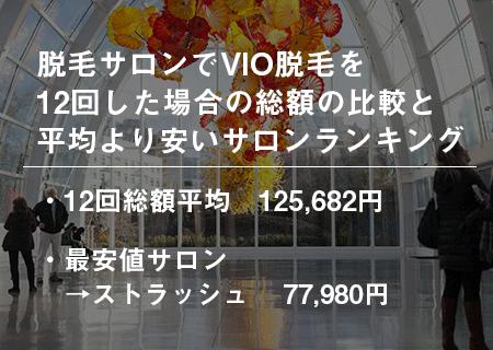 脱毛サロンでVIO脱毛を12回した場合の総額の比較と平均より安いサロンランキング